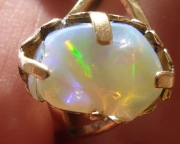 Welo Opal Gem & Gold Plated Ring SZ 7.5