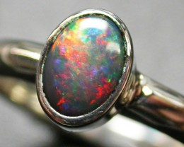 8 RING SIZE WHITE OPAL -SILVERFACTORY DIRECT  [SOJ1968]