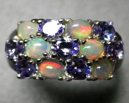 Solid Opal & Tanzanite Rings