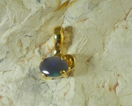 SOLID OPAL 925 SILVER GOLD PLATED PENDANT/SGJP5