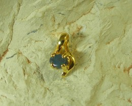 SOLID OPAL 925 SILVER GOLD PLATED PENDANT/SGJP11