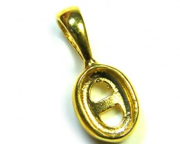 STERLING SILVER  GOLD PLATE PENDANT  FOR 6X4MM  MLF11