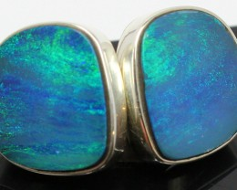 26.30 CTS DOUBLET OPAL STERLING SILVER 925 EARRINGS A9585
