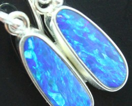 14.25 CTS DOUBLET OPAL STERLING SILVER HOOK 925 EARRINGS A9594