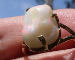 Welo Opal Gem & Gold Plated Ring SZ 9.5