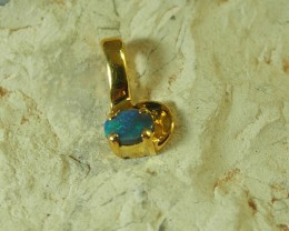 SOLID OPAL 925 SILVER GOLD PLATED PENDANT/SGJP13