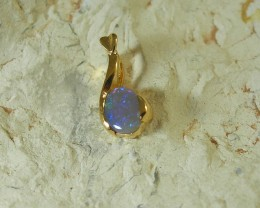 SOLID OPAL 925 SILVER GOLD PLATED PENDANT/SGJP14