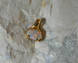 SOLID OPAL 925 SILVER GOLD PLATED PENDANT/SGJP18