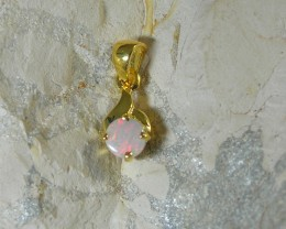 SOLID OPAL 925 SILVER GOLD PLATED PENDANT/SGJP22
