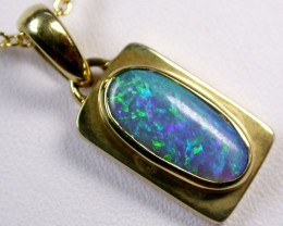 GEM FIRE BLACK OPAL  PENDANT     CK 1619