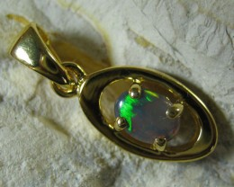 SOLID OPAL 925 SILVER GOLD PLATED PENDANT SGJP 45