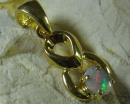 SOLID OPAL 925 SILVER GOLD PLATED PENDANT SGJP 46