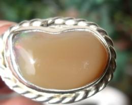 Welo Opal Gem & Silver Pendant P052