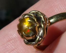 Welo Opal Gem & Gold Plated  Ring SZ 7