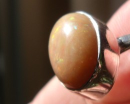 OPAL GEMSTONE SILVER FASHION RING SIZE 6
