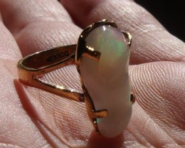 Welo Opal Gem & Gold Plated Ring SZ 6.75