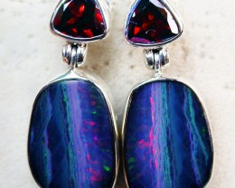 26 CTS DOUBLET EARRING WITH GARNET -FACTORY DIRECT [SOJ2161]
