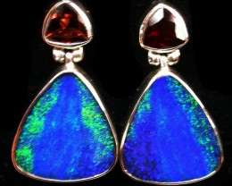33 CTS DOUBLET EARRING WITH GARNET -FACTORY DIRECT [SOJ2170]