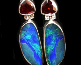 31 CTS DOUBLET EARRING WITH GARNET -FACTORY DIRECT [SOJ2172]