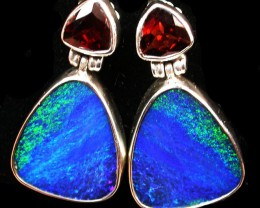 34 CTS DOUBLET EARRING WITH GARNET -FACTORY DIRECT [SOJ2180]