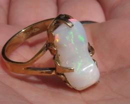 Wello Opal Gem & Gold Plated Ring SZ 8.75
