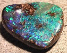 OUTSTANDING COLOR 'BIG' GEM BOULDER OPAL BEAUTIFULLY CARVED
