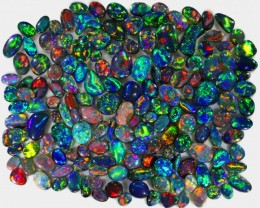 100 CTS  COLLECTORS/INVESTOR  SOLID BLACK  OPAL PARCEL  .