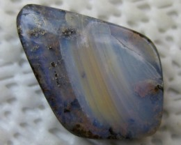 DRILLED HIGH POLISH BOULDER OPAL,13.90.CTS FROM O/L
