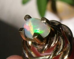 Welo Opal Gem & Gold Plated Pendant P059