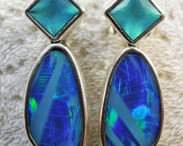 14.50 CTS DOUBLET EARRING/CHALCENDONY-FACTORY DIRECT SOJ2198