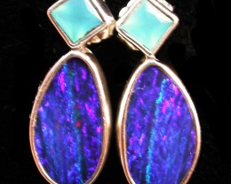 19 CTS DOUBLET EARRING/CHALCENDONY-FACTORY DIRECT SOJ2201