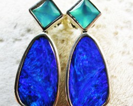 18.50 CTS DOUBLET EARRING/CHALCENDONY-FACTORY DIRECT SOJ2204
