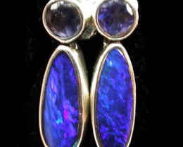 12.50 CTS DOUBLET WITH WATER SAPPHIRE[IOLITE] SOJ2185