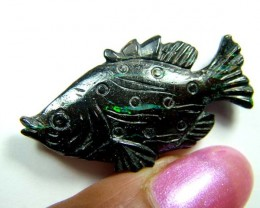 CARVINGS  BOULDER OPAL FISH 19 CTS  SOA-1014