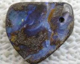 COLOURMINE OPALS~DRILLED LOVELY BOULDER OPAL,29.60.CTS.