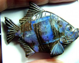 CARVING-FISH  BOULDER OPAL  40.23 CTS  SOA-1029