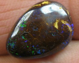 COLOURMINE OPALS~BRIGHT PATTERN BOULDER MATRIX OPAL,7.60.CTS