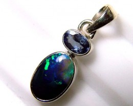 10  CTS SOLID OPAL  SILVER PENDANT  OF-124