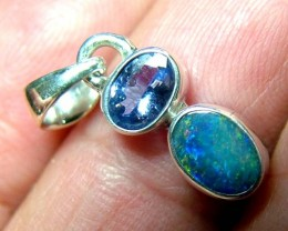 7 CTS SOLID OPAL  SILVER PENDANT  OF-127