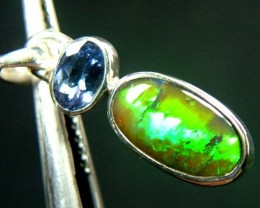 10 CTS BLACK OPAL  SILVER PENDANT   OF-132