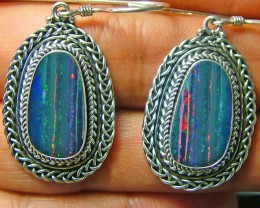 44.50CTS  DOUBLET SILVER EARRINGS-FACTORY DIRECT [SOJ 2193 ]