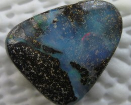 COLOURMINE OPALS~DRILLED LOVELY BOULDER OPAL,12.30.CTS.