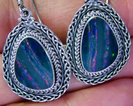 38CTS  DOUBLET SILVER EARRINGS-FACTORY DIRECT [SOJ2204 ]