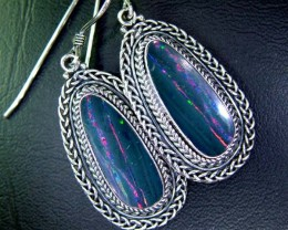 45CTS  DOUBLET SILVER EARRINGS-FACTORY DIRECT [SOJ2209 ]