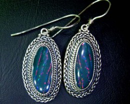 44.50CTS  DOUBLET SILVER EARRINGS-FACTORY DIRECT [SOJ2211 ]