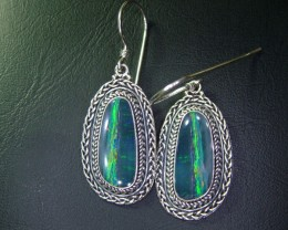 44CTS  DOUBLET SILVER EARRINGS-FACTORY DIRECT [SOJ2217 ]