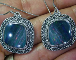 49.50CTS  DOUBLET SILVER EARRINGS-FACTORY DIRECT [SOJ2219 ]