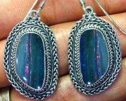 44CTS  DOUBLET SILVER EARRINGS-FACTORY DIRECT [SOJ2224 ]