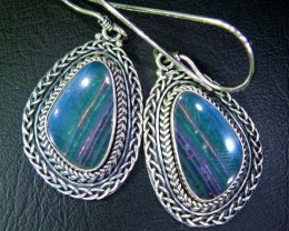 40CTS  DOUBLET SILVER EARRINGS-FACTORY DIRECT [SOJ2226 ]