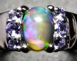 7 RING SIZE STUNNING TANZANITE WELO OPAL RING [SOJ2234]